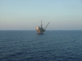 Offshore Production Platform in the distance